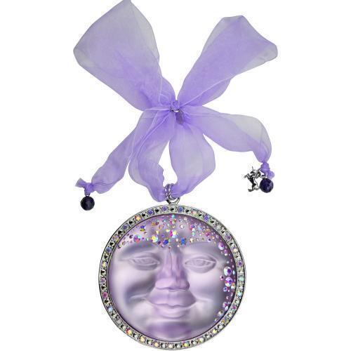 "silvertone LARGE 4/""  violet KIRKS FOLLY SEAVIEW MOON GODDESS ORNAMENT"
