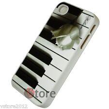 Cover Custodia Rigida Per iPhone 4/4S Tasti Pianoforte + Pellicola Salva Display