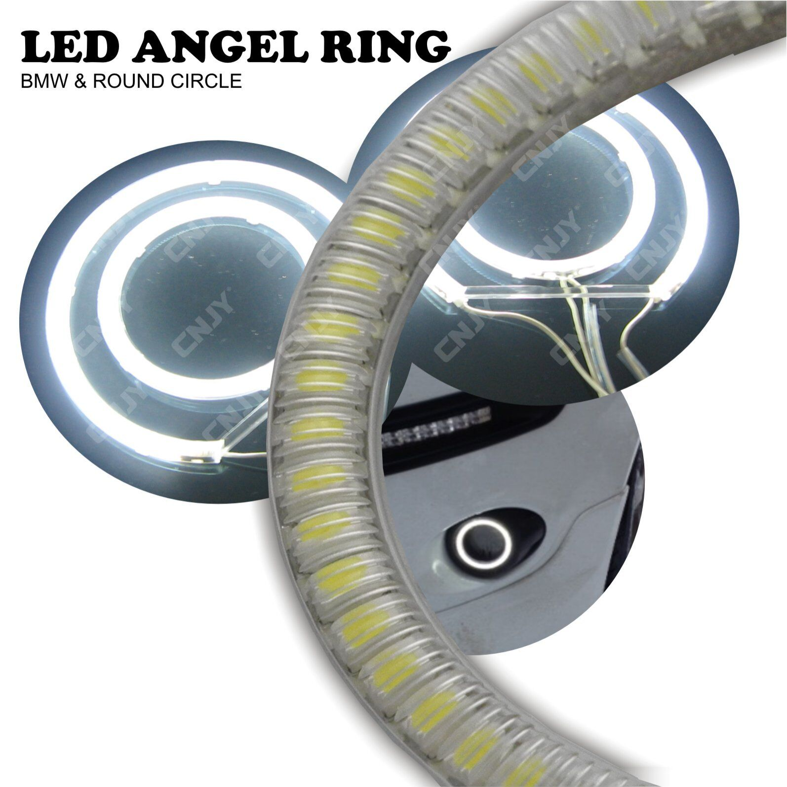 KIT LED ANGEL EYES LED LED LED CERCLE LUMINEUX POUR PHARE BMW E46 E36 E96 & DIVERS 12V c21bed
