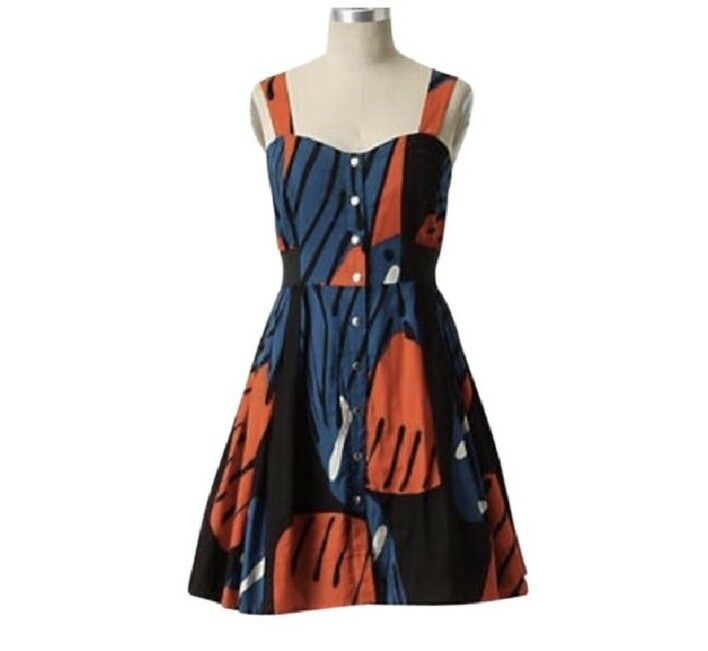 Anthropologie Maeve damen Größe 4 Fragmented Pipevine Butterfly Wings Dress