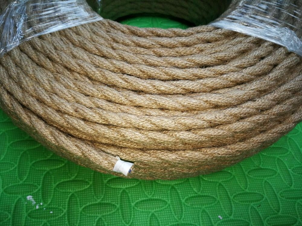 Rope Textile Wires Twisted Cable Braided Vintage Electrical Wiring 2*0.75 5M/Lot