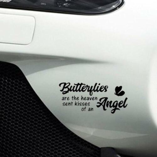 Butterflies Heaven Kisses Design Fun Window Bumper Vinyl Sticker 20.5CM x 9.3CM