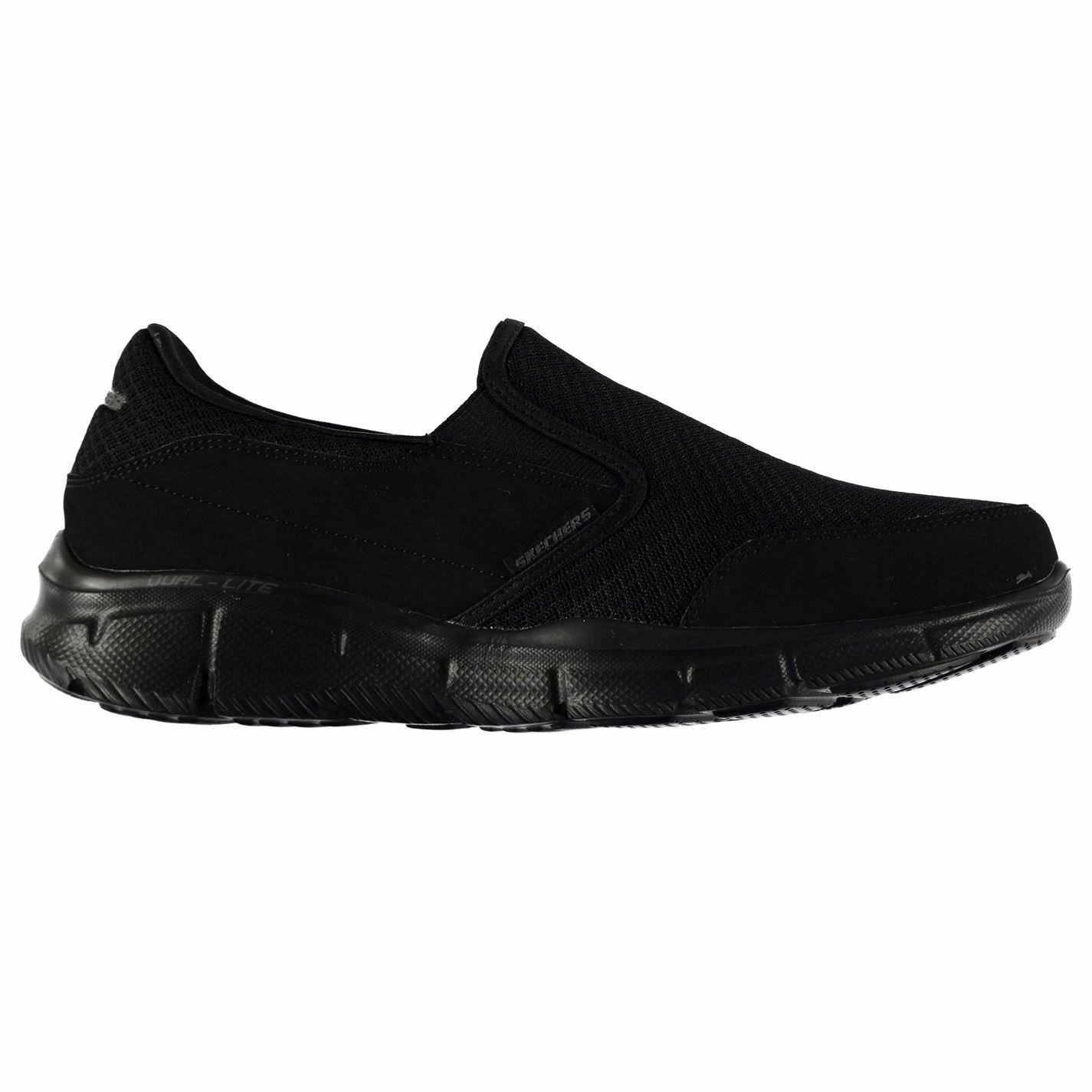 Skechers Equalizer Persistent Trainers Mens Black Sports Shoes Sneakers Footwear Brand discount
