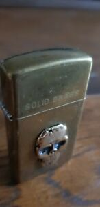 🔥🔥🔥 3.D effect SkuLL Slim Brass Zippo Lighters - Free Postage 🔥🔥🔥