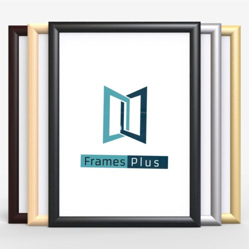CLASSIC SHAPE FRAMES WOOD FINISH PHOTO PICTURE POSTER FRAME BLACK HOME