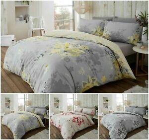 Flanelita-Eaton-Floral-100-Algodon-Cepillado-Funda-nordica-funda-de-almohada-Juego-de-cama