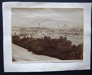 1890ca FIRENZE PANORAMA foto originale d'epoca albumina 19x25 cm
