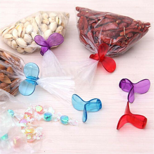 6Pcs//Lot Plastic Food Snack Storage Sealing Bag Clips Sealer Clamp Kitchen LH