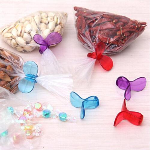 6Pcs//Lot Plastic Food Snack Storage Sealing Bag Clips Sealer Clamp Kitchen LH
