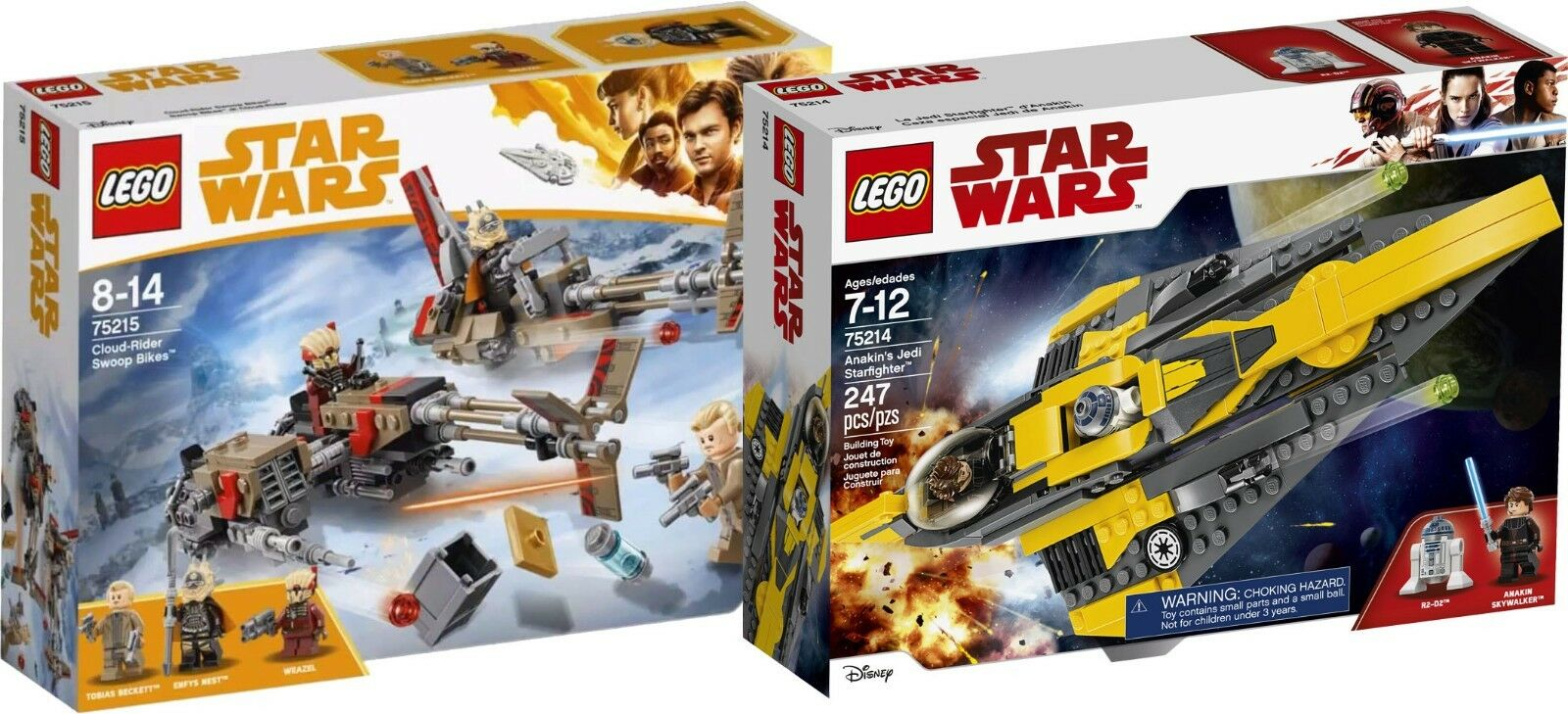 LEGO estrella guerras 75215 Cloud-Rider Swoop BIKES 75214  Anakin's Jedi n8 18  Sconto del 70% a buon mercato