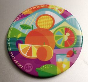 New Disney California Adventure Food and Wine Festival Button New 2017 AP week 1