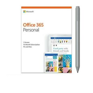 Microsoft Office 365 Personal 1 Yr Subscription 1 User + Cobalt Blue Surface Pen