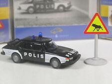 Wiking C&I Schweden Sondermodell Saab 900 Polis Sverige mit Elchschild