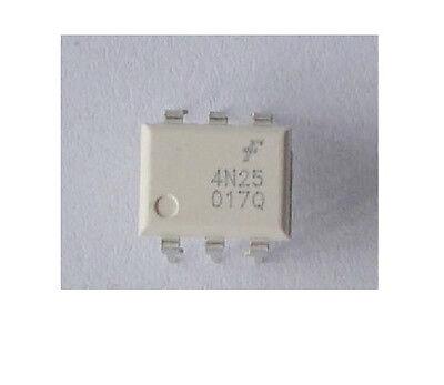 10Pcs 4N25 6Pin Optoisolators Transistor DIP New