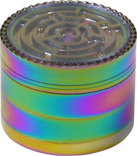 Grinder Metall Rainbow / Ø 63 mm / Höhe 49 mm / 4teilig / Sieb / Spachtel