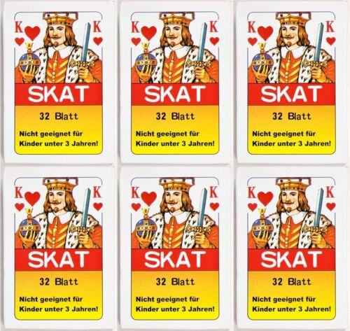 Spielzeug Großhandel & Sonderposten 36 x Skatkarten Skatkarte Spielkarte 32 Blatt Skat Karten Französische Blatt