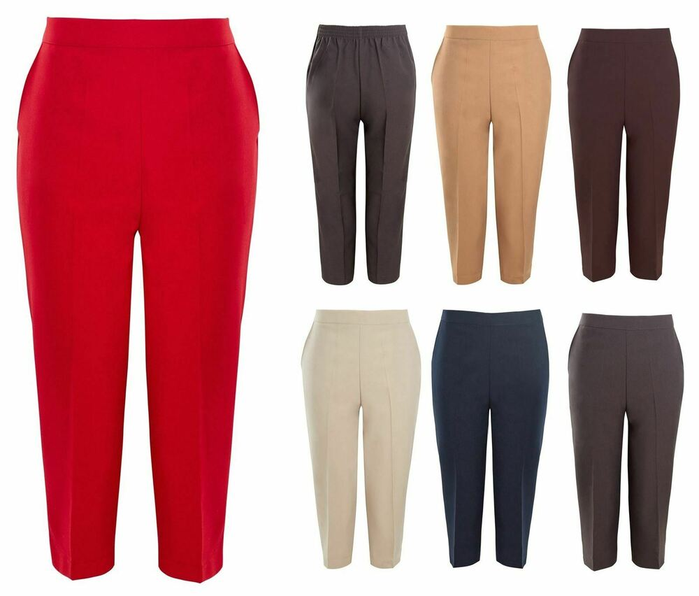 CoopéRative Chaussures Femme 3/4 Semi-élastique Pantalon Capri Cropped Stretch D'été Pantalon Uk 10-24 à Tout Prix