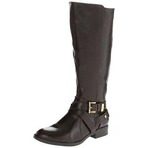 543a1856779a New LIFESTRIDE Racey Brown Knee High Riding Boots Wide Calf WS Shaft ...