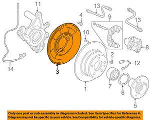 GM OEM-Brake Backing Splash Dust Shield Plate Left 25990085