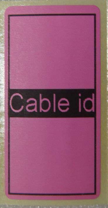 50 x Cable id Tidy Labels Self Adhesive Sticky Identification Stickers Tags Pink