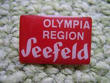 Pin Olympia Region Seefeld passend zur Olympiade 2016 Rio Olympic Game IOC