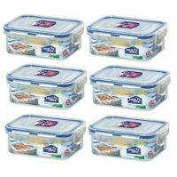 (pack Of 6) Lock&lock Rectangular Food Container, Short, Hpl806, 1-1/2-cup, 11.8 on sale