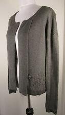 GAP Ladies Gray Wool Blend Sweater Cardigan sz XS  Long Sleeves Drop Shoulders