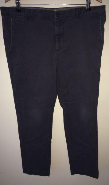 100% Vero Pantaloni Chino Da Uomo Navy W38 Tu < Nz1023