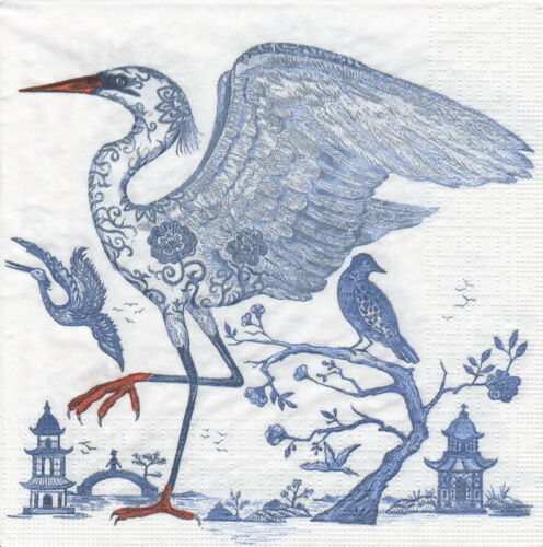 Prince/'s Egret 4x Paper Napkins for Decoupage Decopatch Craft Ron Tanovitc