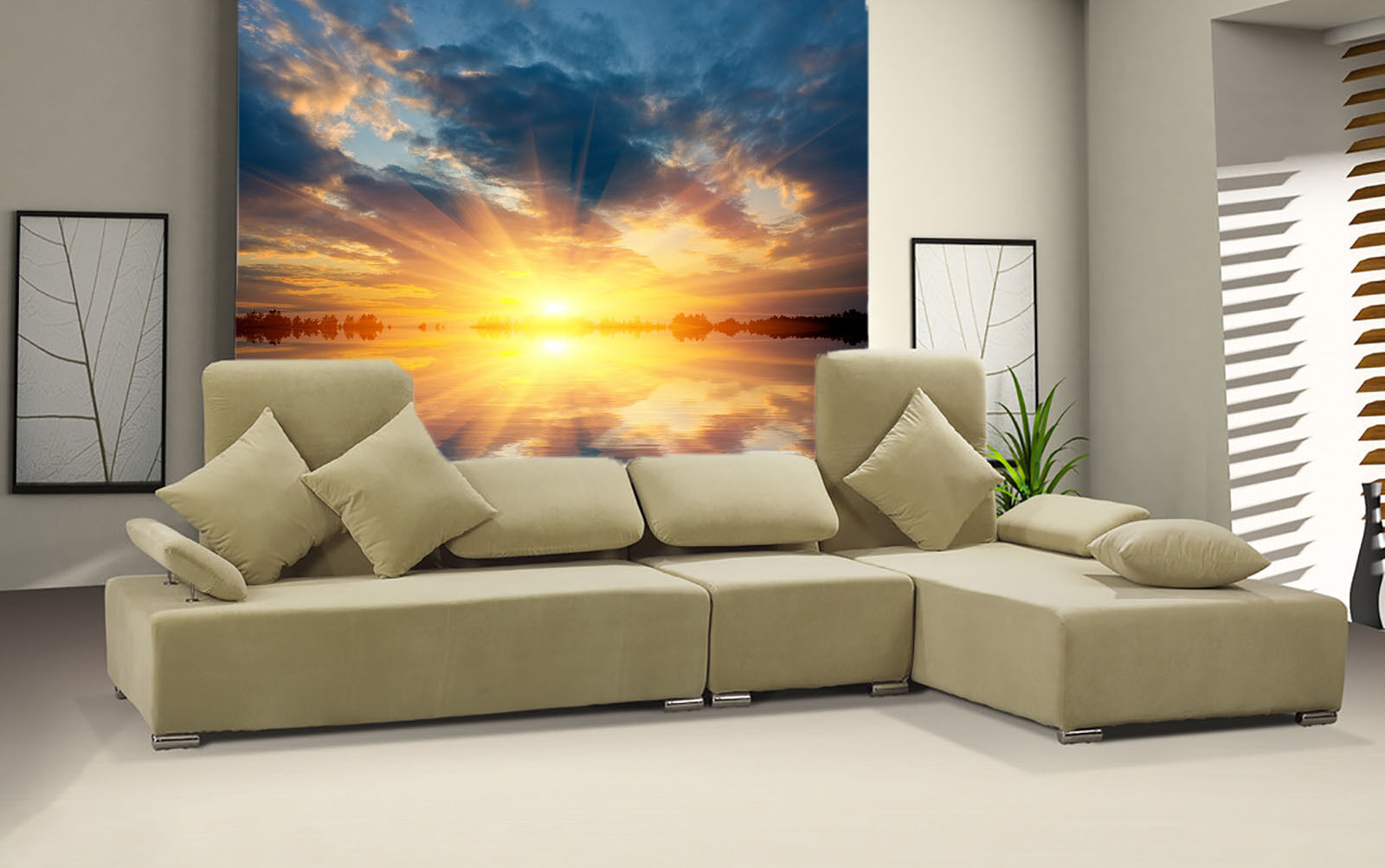 3D Sunshine Coulds Tree 665  Paper Wall Print Wall Decal Wall Deco Indoor Murals