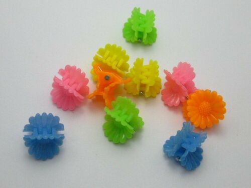 100 Mixed Color Sunflower Plastic Kids Mini Hair Claw Clip Clamp DIY 12X12mm