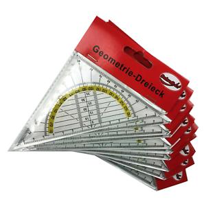 10er-Set-Geodreieck-16cm-Geometria-Triangolare-Riga-Scuola-Triangolo-di-Segno