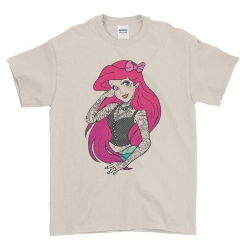 Gothic Pretty Punk Princess Ariel Swag Funky Boys Men T Shirt Top Tee