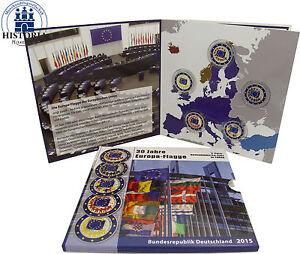 Deutschland-5-x-2-Euro-2015-Europaflagge-im-Folder-Mzz-A-D-F-G-J-in-Farbe