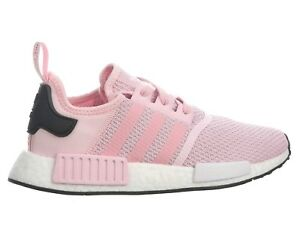 56867bfe9384 Adidas NMD R1 Roller Knit Womens B37648 Clear Pink Boost Running ...