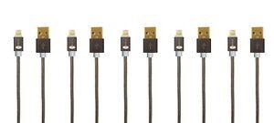 5-Stueck-iPhone-Ladekabel-Lightning-1m-Apple-iPhone-X-8-7-6-SPACEGREY-iPad-iPod