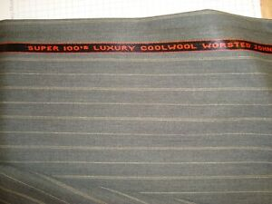 4-yds-JOHN-COOPER-WOOL-FABRIC-Cool-Wool-Super-100s-8-oz-SUITING-Gray-144-034-BTP