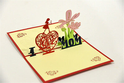 Handmade 3D Pop Up Happy Mother/'s Day Appreciation Love Card