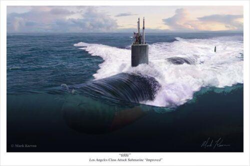 "Los Angeles Class Attack Submarine /""Improved/"" /""688i/"" Mark Karvon Giclee Print"