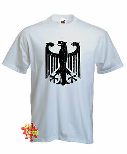 GERMAN EAGLE crest Deutschland Germany football T Shirt All Sizes   eBay