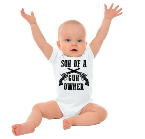 Son of a Gun Owner Gerber Onesie Funny 2nd Amendment Right Control Baby Romper
