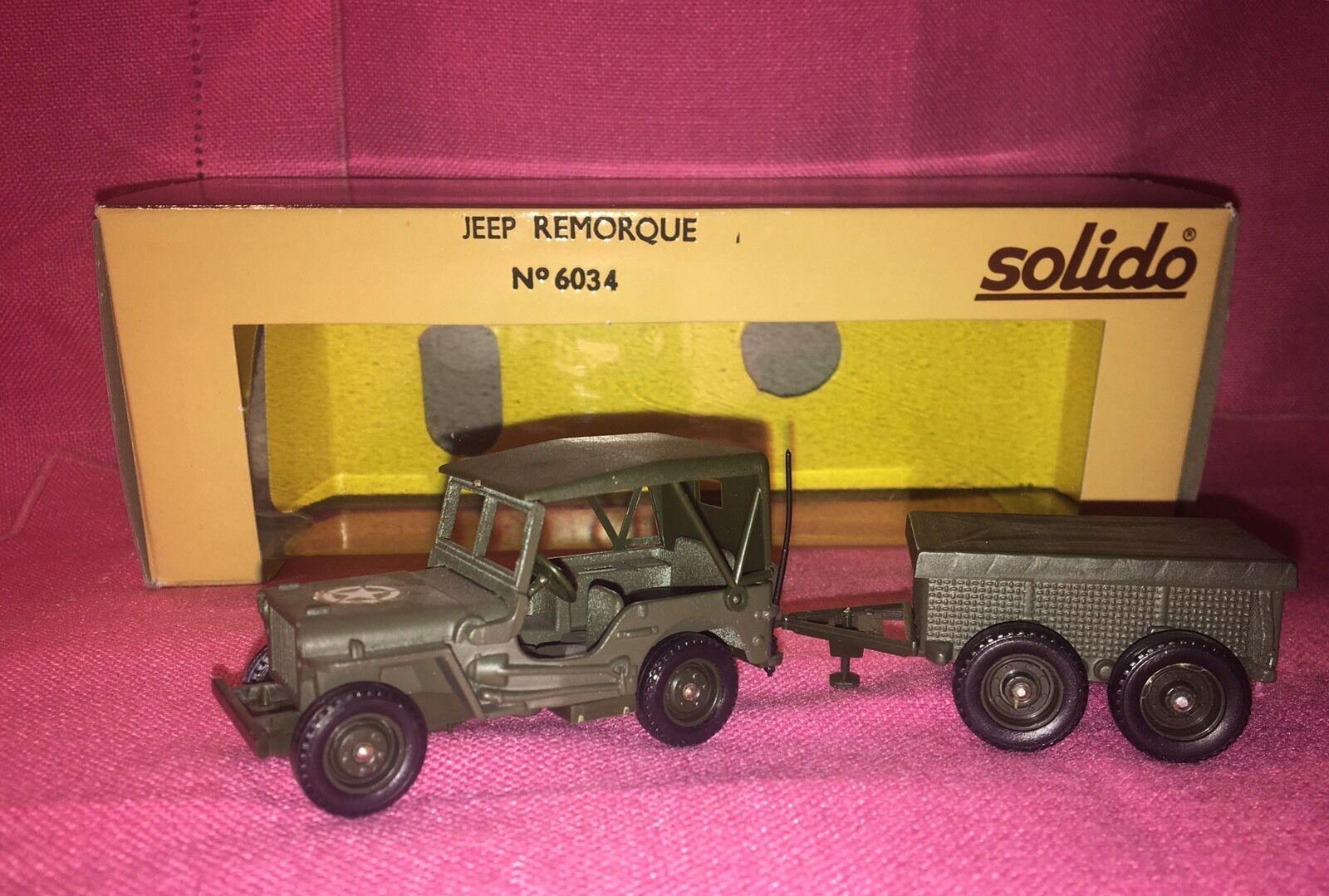 SOLIDO No. 6034 Jeep Remorque Willy's Jeep & Trailer -