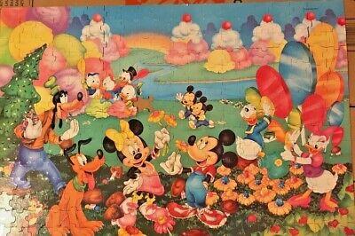 copyright 1980 Pluto 300 Piece Floor Puzzle Minnie Donald Goofy Vintage Disney Fantasy Puzzle with Mickey