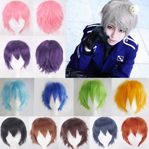 Short Straight Pixie Cut Cosplay Wig Heat Resistant Synthetic Full ... d570a0f71efa