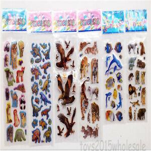 6-Sheets-Steroscopic-Puffy-Lifelike-Stickers-Scropbook-Toys-School-Reward-Gifts