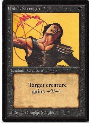 1 FOIL Unholy Strength Black Eighth 8th Edition Mtg Magic Common 1x x1