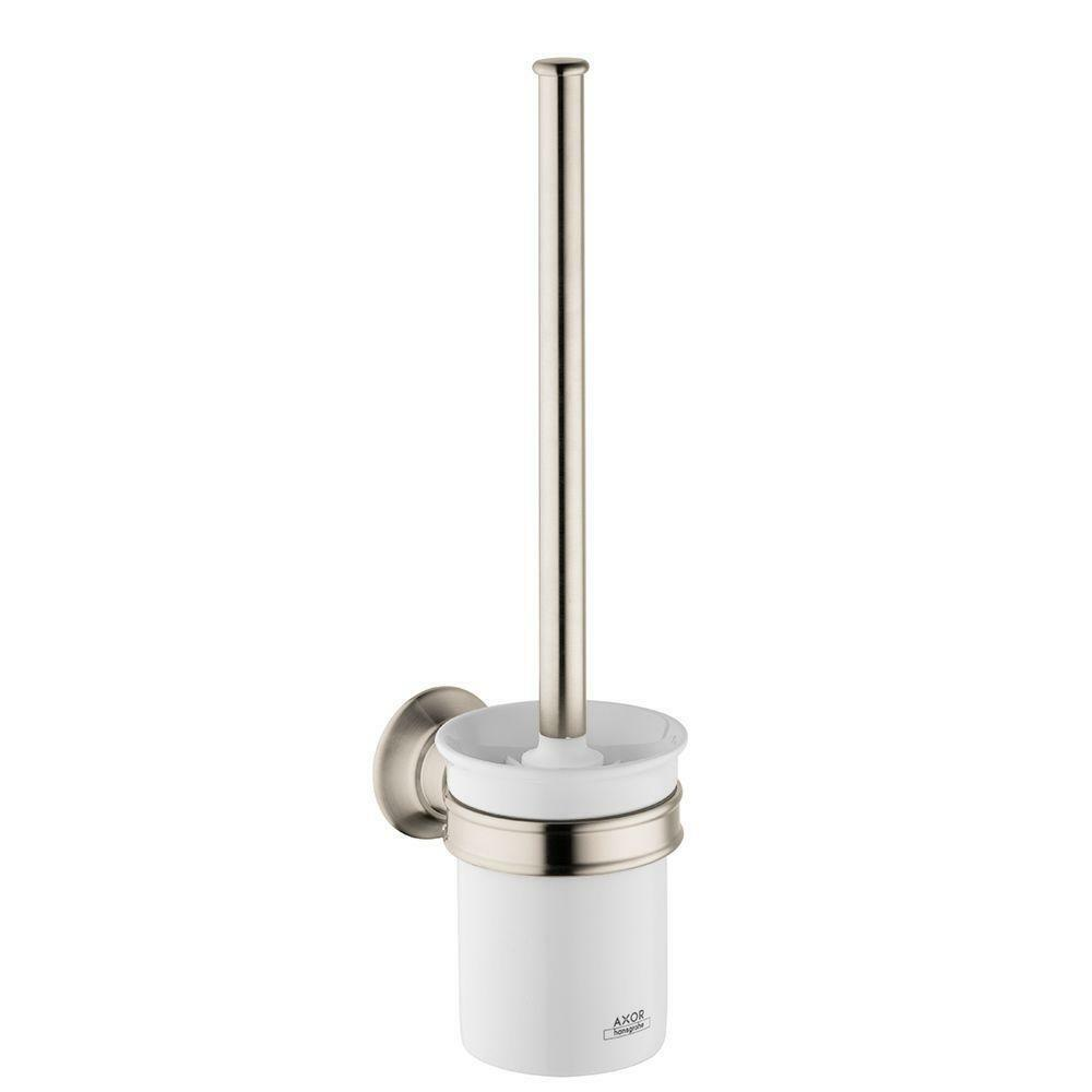 Hansgrohe 42035820 Axor Montreux Wall-Mounted Toilet Brush Holder Brushed Nickel