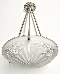 Degue-1920-1930-French-Art-Deco-Pendant-Chandelier-Ceiling-Light