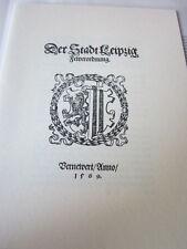 Leipzig Archiv Messestadt 2014E Der Stadt Leipzig Feuerordnung 1569 Faksimile