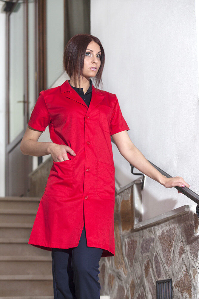 Medical gown Man Woman Short sleeve working clothing laboratory red